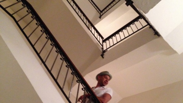The staircase at Las Clementinas hotel makes it easy to stage photos.