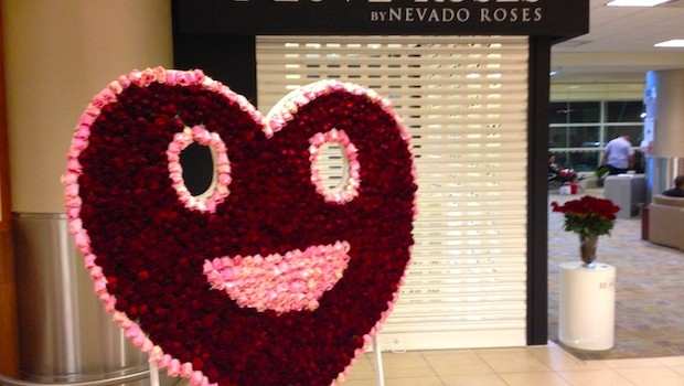 At the Quito airport, I Love Roses sells flowers from Nevado Roses.