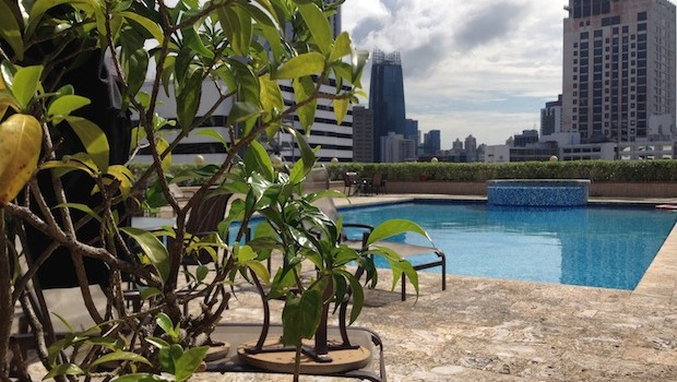 Rooftop pool at the Veneto Wyndham Grand hotel in Panama City.