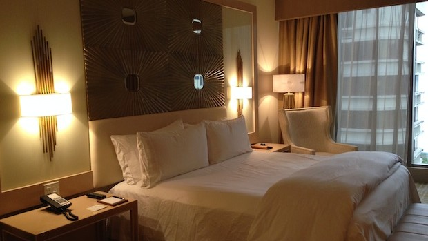 Our guest room at Waldorf Astoria Panama.