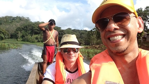 A canoe ride is part of the tour to Embera village tour in Panama.
