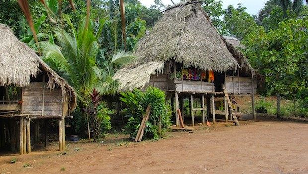 Embera Puru, a village of indigenous people in Panama.