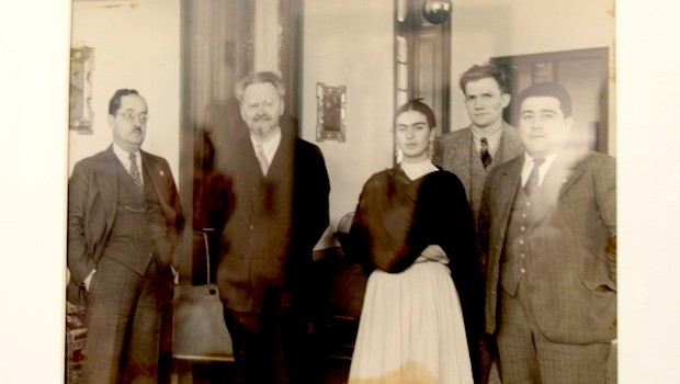 Frida Kahlo, Leon Trotsky and friends, in a 1937 photo.