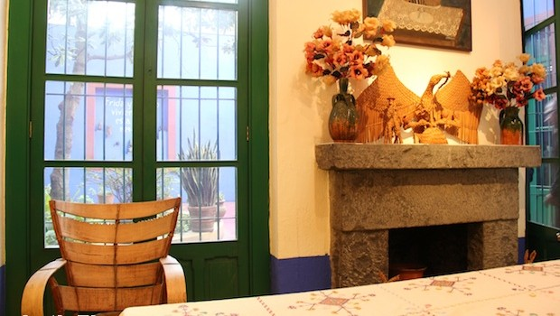 Dining area at Casa Azul, the Frida Kahlo Museum in Mexico City.