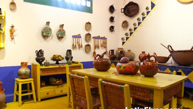 Kitchen at Frida Kahlo Museum in Mexico City.