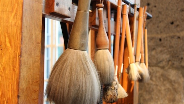 Brushes used by artist Frida Kahlo, on exhibit in her former home.