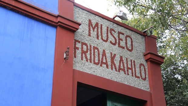 The Casa Azul — the Frida Kahlo Museum — in Mexico City.