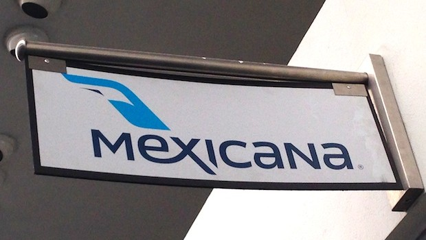 Vintage sign from now-defunct Mexicana Airlines.