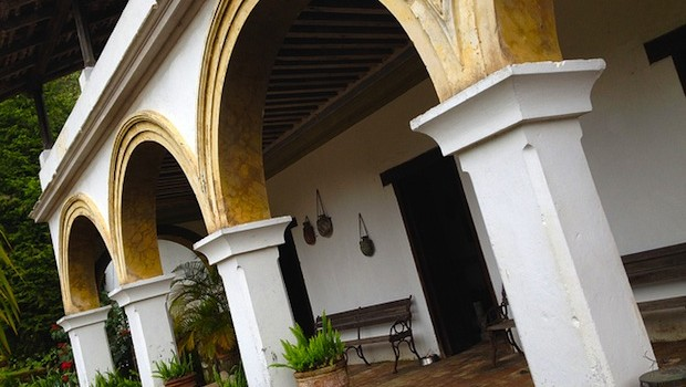 Historic architecture at Hacienda Jalisco, near Puerto Vallarta.