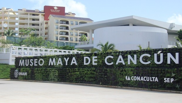 The Mayan Museum in Cancun is close to hotels.