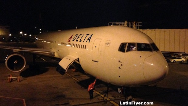 Delta Air Lines Boeing 767-400ER, ready to fly from Atlanta to Rio.