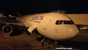 Delta Air Lines Boeing 767, ready to fly from Atlanta to Rio.