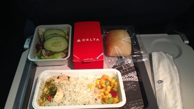 Airline food: Airline meals for dinner from Delta Air Lines.