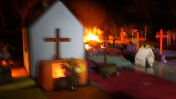 A cemetery comes alive during the Day of the Dead.