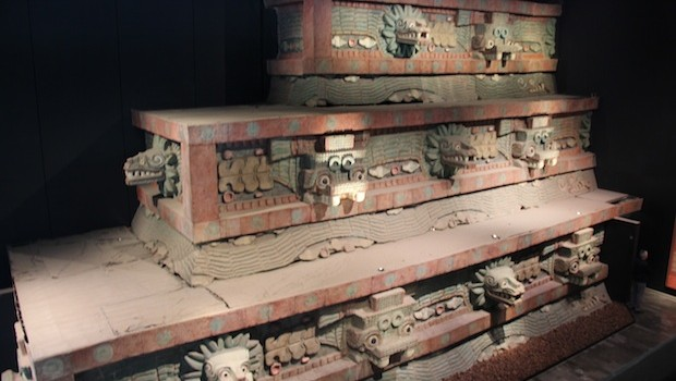 Recreation of pre-Hispanic temple at the anthropology museum.