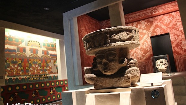 Sculpture of the fire god Huehueteotl, at anthropology museum.