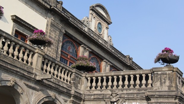 Historic architecture of Chapultepec Castle in Mexico City.