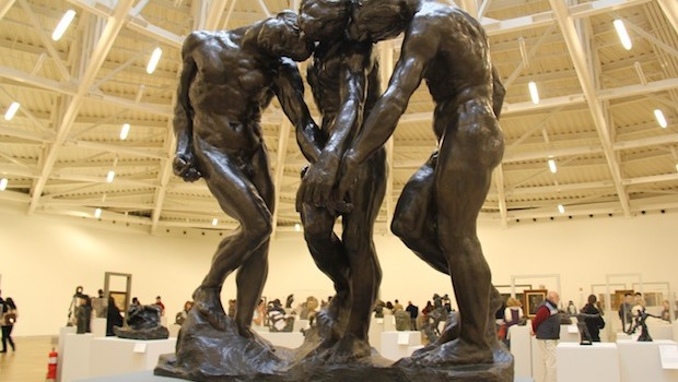 """The Three Shades"" by French artist Auguste Rodin, at Museo Soumaya."