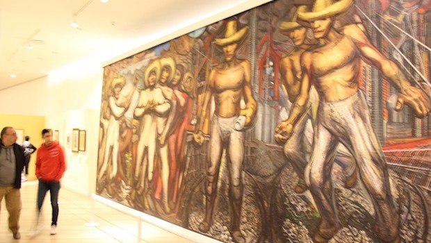 """The Land, Like the Water and the Industry, Belongs to Us,"" by David Alfaro Siquieiros."