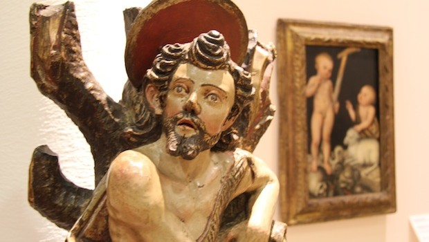 """John the Baptist,"" a mid-18th-century artwork at Museo Soumaya."