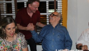 Novelist Gabriel Garcia Marquez, meeting travel writer Mark Chesnut in Cartagena.
