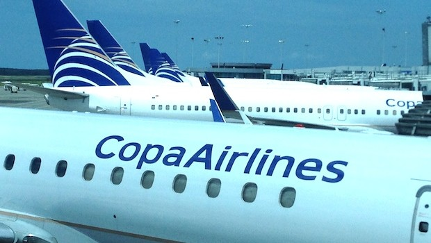 Copa Airlines aircraft at Panama City Tocumen airport.