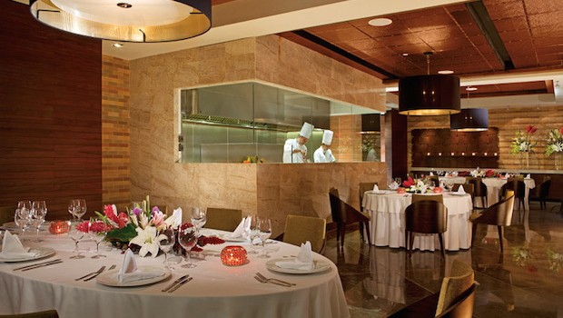 Bluewater Grill was one of our favorite restaurants at the all-inclusive Secrets The Vine.