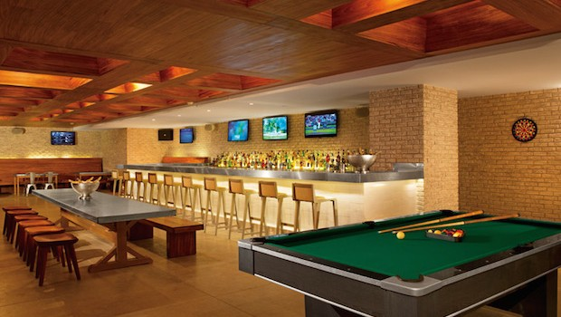 Half Time is the sports bar and eatery at Secrets The Vine in Cancun.