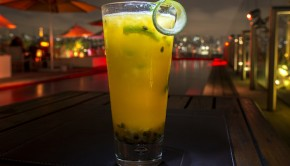 The Caipicopa, a World Cup-inspired cocktail at Hotel Unique in Sao Paulo.