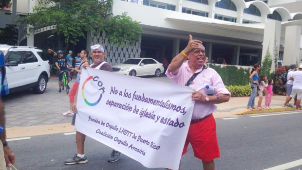 Marchers in the 2014 gay pride parade in San Juan, Puerto Rico.