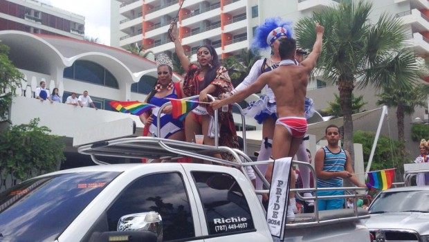 Drag queens and go-go boys in the gay pride parade