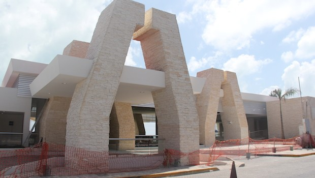 The new ferry terminal at Isla Mujeres, Mexico.