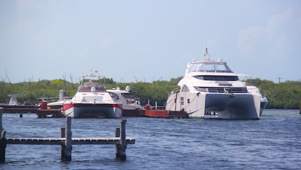 Yachts from all over arrive for vacations at Isla Mujeres.