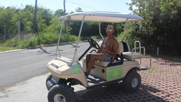 Golf carts are the most efficient (and fun) way to travel on Isla Mujeres.