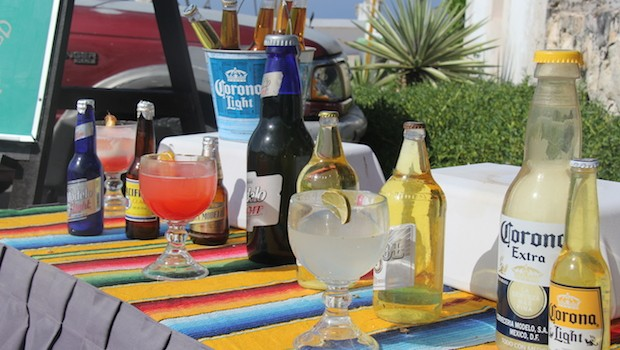 Lots of liquid refreshments on Isla Mujeres.