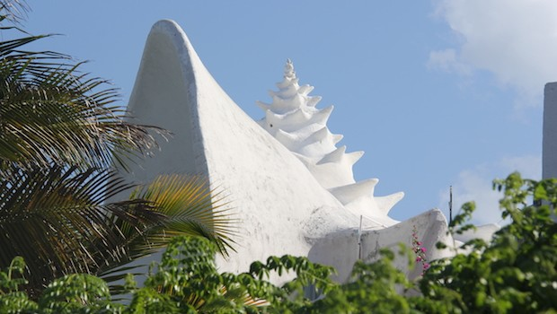 Architecture inspired by sea shells on Isla Mujeres.