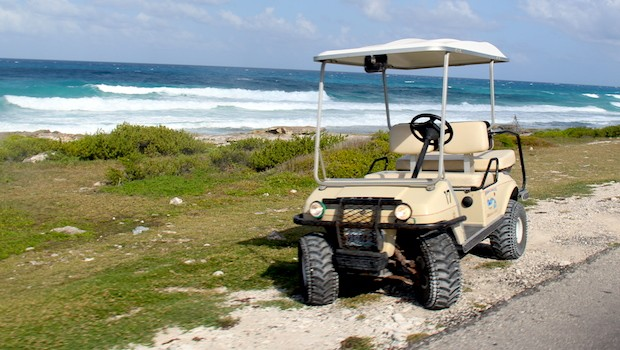 Golf carts are the best way to travel around Isla Mujeres.