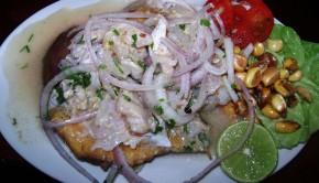 """Ceviche de trucha (Peru)"" PHOTO:  Dtarazona"