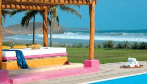 Las Alamandas is a Mexico beach hotel on the Pacific coast.