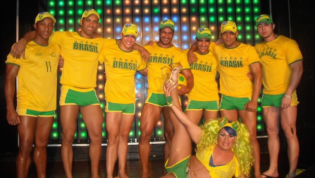 A World Cup-themed show at Le Boy, a gay bar in Rio de Janeiro.