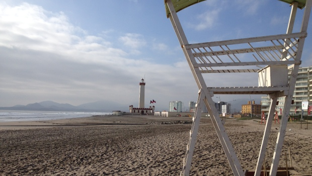 The beach in  La Serena, Chile.