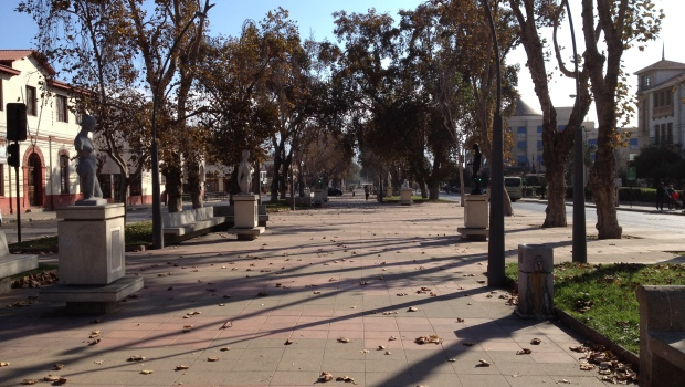 The main plaza in  La Serena, Chile.