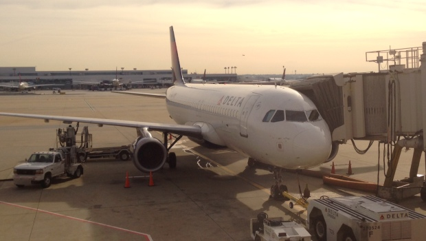 Delta Air Lines Airbus A320 at Atlanta airport.