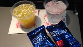 Delta Air Lines offered two rounds of free snacks on this Puerto Vallarta flight.
