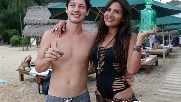 Tatiana Rodriguez Anderson and her boyfriend at Chicos Yelapa Beach Club.