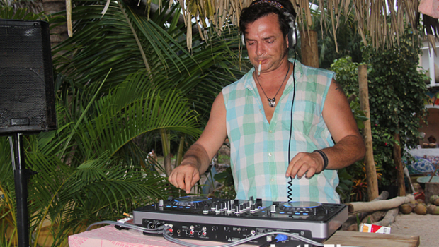 A live DJ kept the beats going at Chicos Yelapa Beach Club.