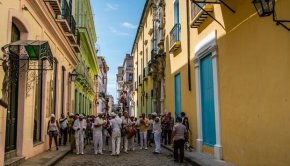 Santería procession in Havana, Cuba. PHOTO: Jia Han Dong/Smithsonian Journeys
