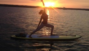 Paddle board yoga at CostaBaja Resort & Spa in Mexico.
