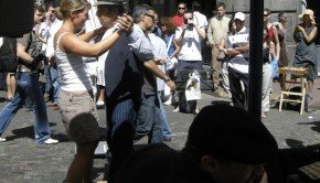 Tango on the streets of Buenos Aires.