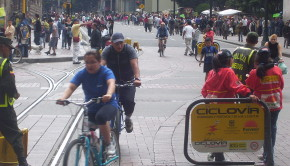 The Ciclovia offers cycling fun in Bogota, Colombia.